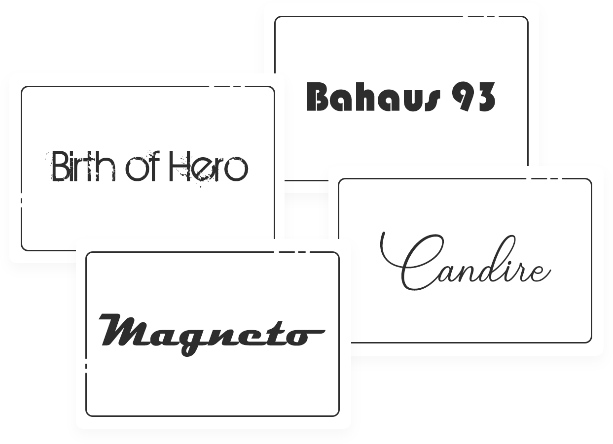 custom fonts