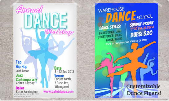 Dance Posters Templates Prints Downloads – Advertisement Flyer Maker