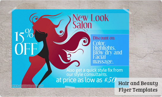 Beauty Salon Flyers - Templates & Downloads | PosterMyWall