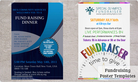 Fundraising posters templates downloads postermywall for Fundraising brochure template