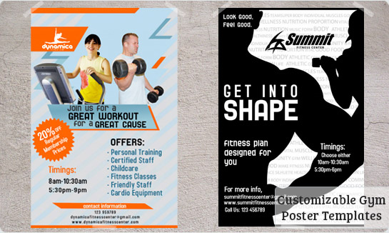 Gym Posters Templates Free Downloads – Fun Poster Templates