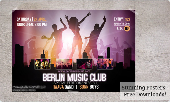 Band Flyers Template Shefftunes