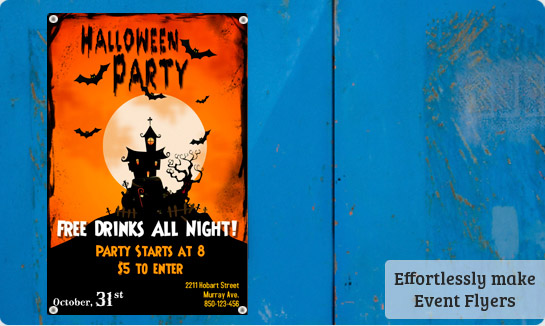 Halloween flyers templates free downloads postermywall for Free halloween flyer templates