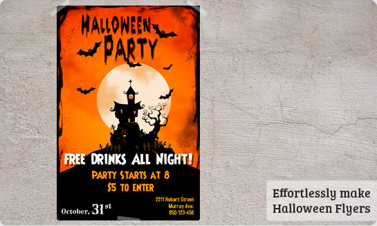 party flyers picture Cute Halloween Flyer Templates