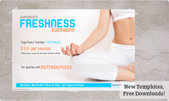Fitness Posters Free Fitness Poster Template